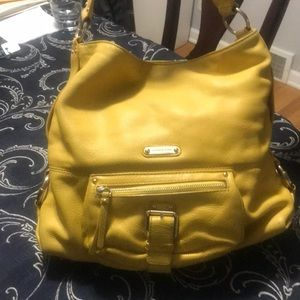 Michael Kors leather yellow purse